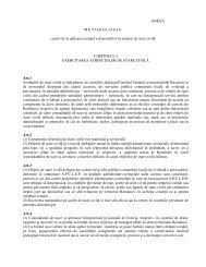 METODOLOGIE cu privire la aplicarea unitara a dispozitiilor în ...