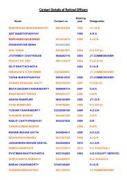 Contact Details of Retired Officers