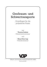 Großraum- und Schwertransporte - Verlag Deutsche Polizeiliteratur ...