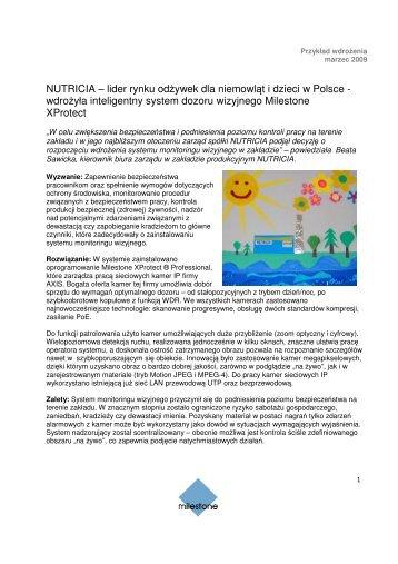 NUTRICIA – lider rynku odżywek dla niemowląt i dzieci w Polsce ...