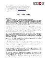 Graz Slow Down, PDF (53 kB) - Graz Tourismus