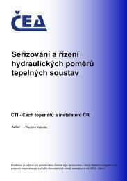 Seřizování a řízení hydraulických poměrů tepelných ... - MPO Efekt