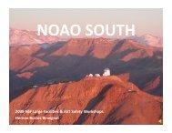 2009 NSF Large Facili,es & AST Safety Workshops Hernan Bustos ...
