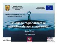 Ghidul de regionalizare al serviciilor de apa si apa uzata - Ministerul ...