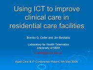 Using ICT to improve clinical care in residential care facilities