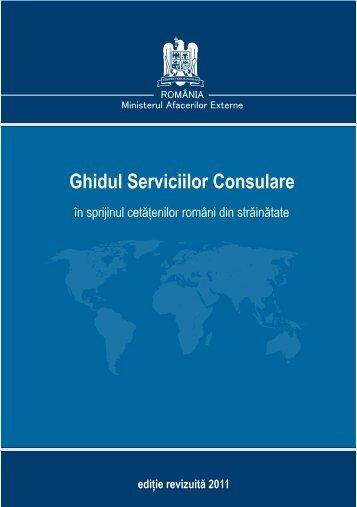Ghidul serviciilor consulare - Ministerul Afacerilor Externe