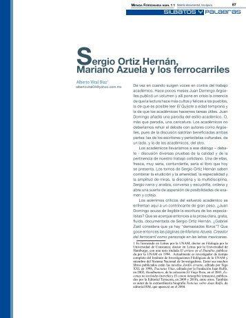 Sergio Ortiz Hernán, Mariano Azuela y los ferrocarriles - Museo ...