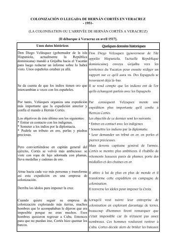 COLONIZACIÓN O LLEGADA DE HERNÁN CORTÉS EN VERACRUZ