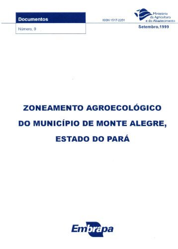 ZONEAMENTO AGROECOLÓGICO DO MUNiCíPIO DE ... - Embrapa
