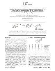 Efficient Method for Synthesis of Angucyclinone Antibiotics via ... - Nyx