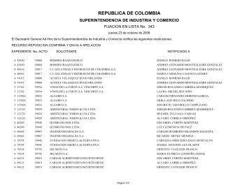 LISTA No. 343 - Superintendencia de Industria y Comercio