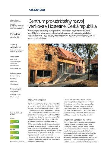 Centrum pro udržitelný rozvoj venkova v Hostětíně, Česká ... - Skanska