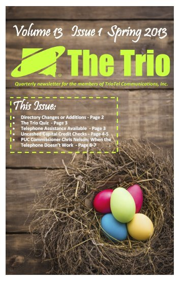 The Trio Newsletter