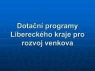 Dotační programy Libereckého kraje pro rozvoj venkova