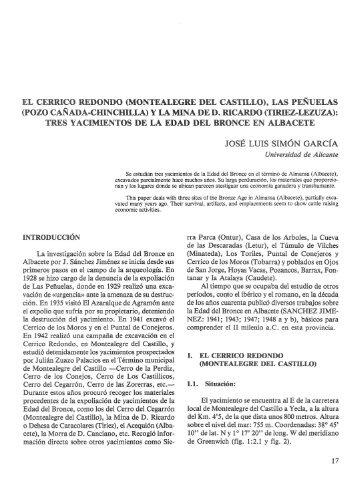 el cerrico redondo (montealegre del castillo), las penuelas - RUA ...
