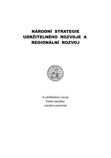 národní strategie udržitelného rozvoje a regionální rozvoj