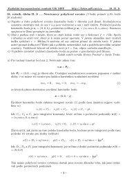 18. ročník, úloha II.S ... Newtonovy pohybové rovnice (5 ... - FYKOS
