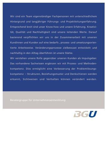 Klaus Schweingruber - Beratergruppe für Unternehmensentwicklung