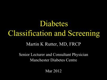 DM Diagnosis and management - M Rutter (Mar 2012)