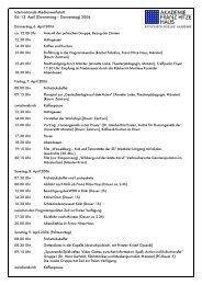 Internationale Medienwerkstatt 06.-13. April ... - Franz-Hitze-Haus