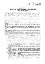 Regulament privind comercializarea produselor si serviciilor de piata