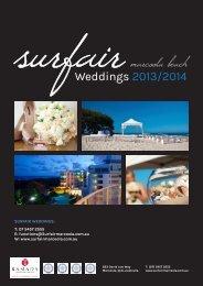 Download Wedding Packages PDF - SurfAir Marcoola Beach