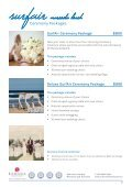 Download Wedding Packages PDF - SurfAir Marcoola Beach - Page 6