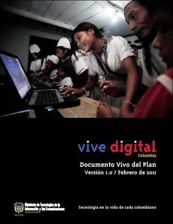Documento Vivo del Plan - Vive Digital