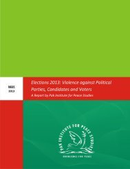 Elections 2013: Violence against Political Parties, Candidates and Voters