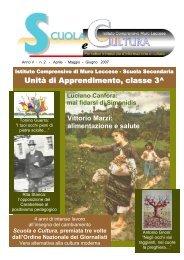 Unità di Apprendimento, classe 3^ - scuola e cultura - rivista