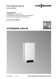 Montage handleiding Vitodens 200-W 3,8-35kW - Viessmann