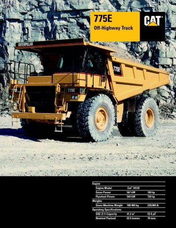 Specalog for 775E Off-Highway Truck, AEHQ5457 - Kelly Tractor
