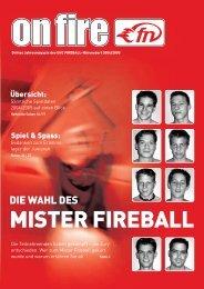 onfire 04/05 (1,5 MB/pdf) - UHC Fireball Nürensdorf