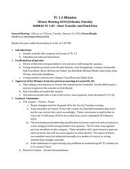 2010 ASHRAE Winter Meeting Minutes - TC 1.3