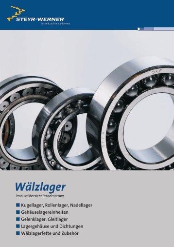 Gleitlagerbuchsen Ptfe/Stahlfaserverbund - Steyr-Werner