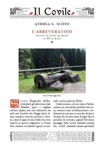 Il Covile N° 713 - Andrea G. Sciffo: L'abbeveratoio.