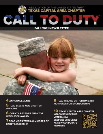 FALL 2011 NEWSLETTER - Association of the United States Army