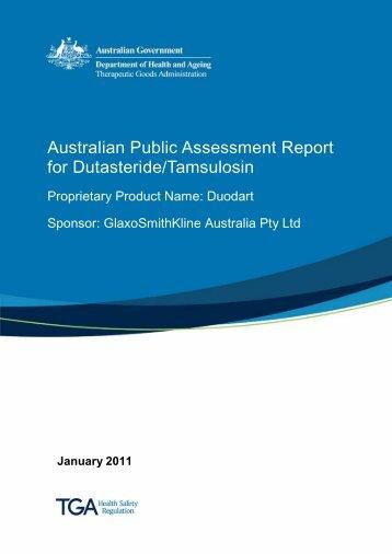 Australian Public Assessment Report for Dutasteride/Tamsulosin
