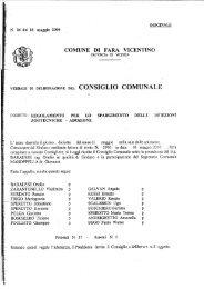 Delibera spargimento liquami - Comune di Fara Vicentino