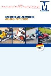 Mauderer-Verladetechnik Verladen Mit SySteM QualitÄt