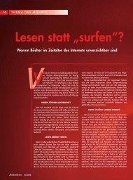"""Lesen statt """"surfen""""? - Advent-Verlag Lüneburg"""