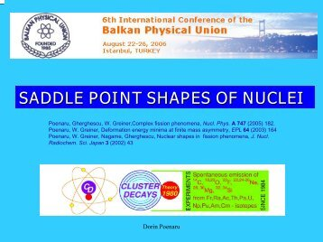 saddle point shapes of nuclei - Frankfurt Institute for Advanced Studies