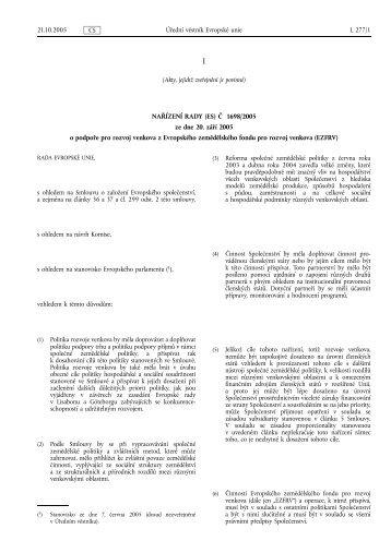 (Akty, jejichž zveřejnění je povinné) NAŘÍZENÍ RADY (ES ... - EUR-Lex