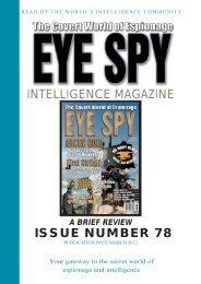 INTELLIGENCE MAGAZINE ISSUE NUMBER 78 - Eye Spy ...