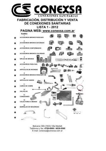 Lista de Precios (PDF) - Conexsa
