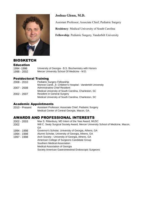 Joshua Glenn, MD - MCCG General Surgery Residency
