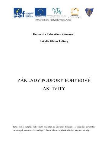 Podpora pohybové aktivity - VIPPA - Univerzita Palackého v Olomouci