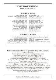 POHYBOVÉ ÚSTROJÍ - Společnost pro pojivové tkáně