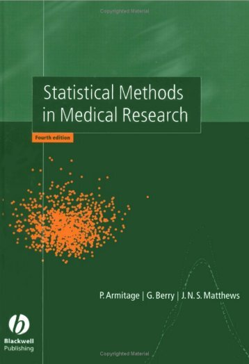 Statistical Methods in Medical Research 4ed