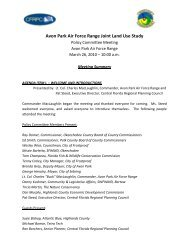 Avon Park Air Force Range Joint Land Use Study - Central Florida ...